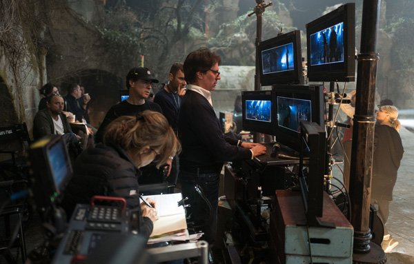 Rob Marshall in video village on set