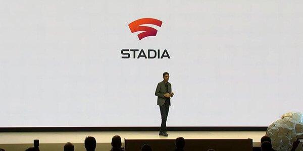 Google's CEO Sundar Pichai announcing Stadia at GDC
