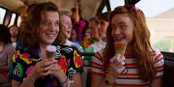 Eleven and Max enjoying ice cream