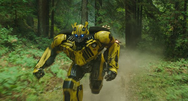 Bumblebee runs from Sector 7 soldiers