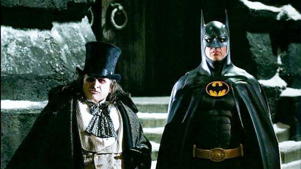 Michael and Danny as Batman and the Penguin