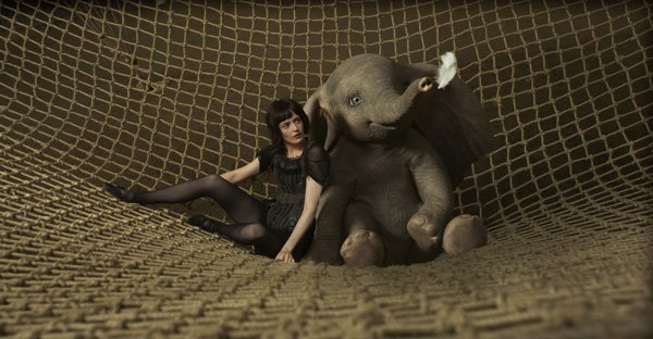 Collette and Dumbo caught in her net