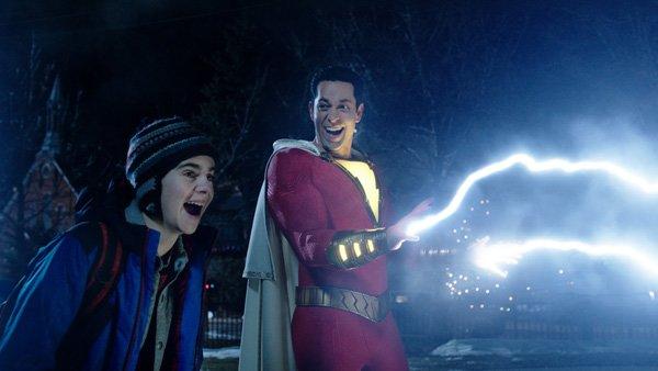 Shazam loves shooting lightning bolts