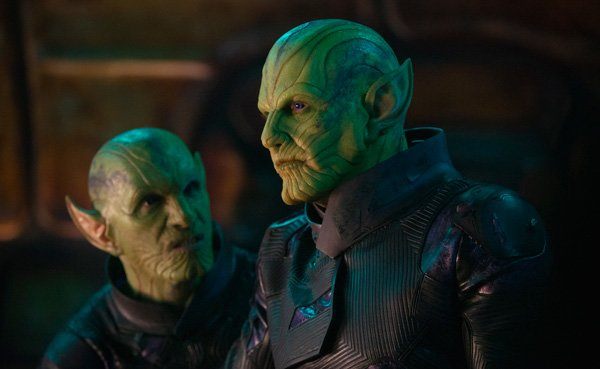 Skrull leader Talos with his lieutenant