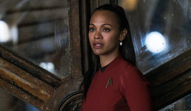 Zoe as Uhura in Star Trek