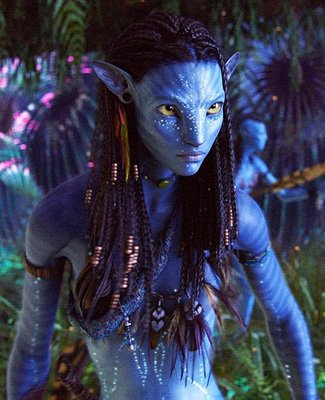 Zoe as Neytiri in Avatar