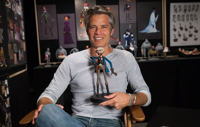 Timothy Olyphant with his Willard Stenk puppet