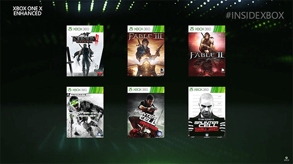 The latest Xbox One X Enhanced games.