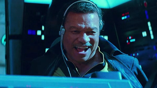Billy Dee Williams reprising his role as Lando Calrissian (probably) one last time