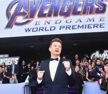 Jeremy Renner at the Avengers: Endgame premiere