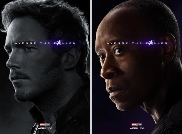 Star-Lord and War Machine Endgame Posters