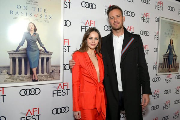 Felicity and Armie at an event for the film
