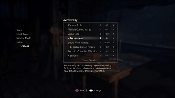 A look at some of Uncharted 4's accessibility options.
