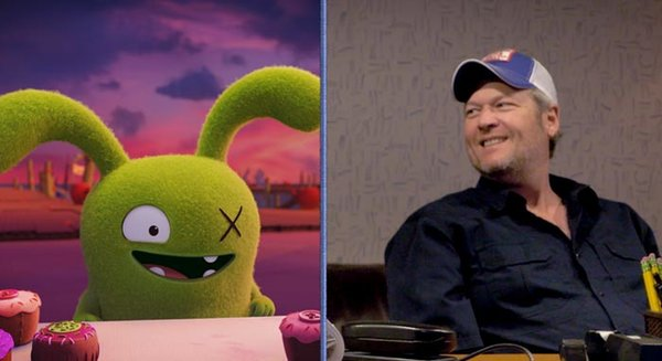 Blake Shelton is green, bunny-like Ox