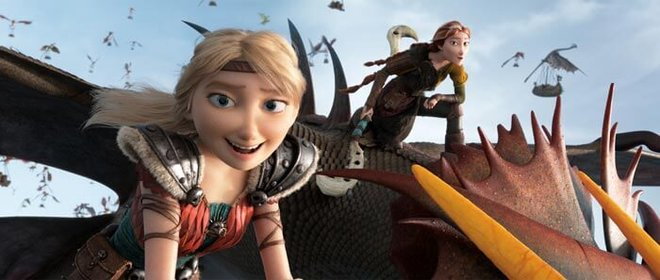 Hiccup's mom and Astrid are Dragon Riders