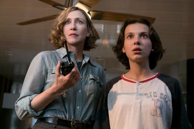 Millie with movie mom Vera Farmiga