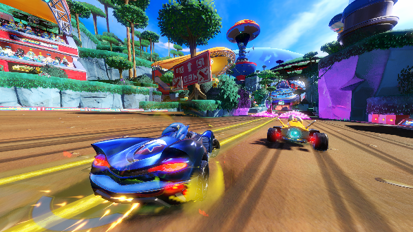 The worlds and karts animate well and are beautifully colorful.