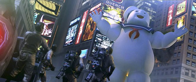 Several iconic ghosts return, like Stay Puft Marshmallow Man