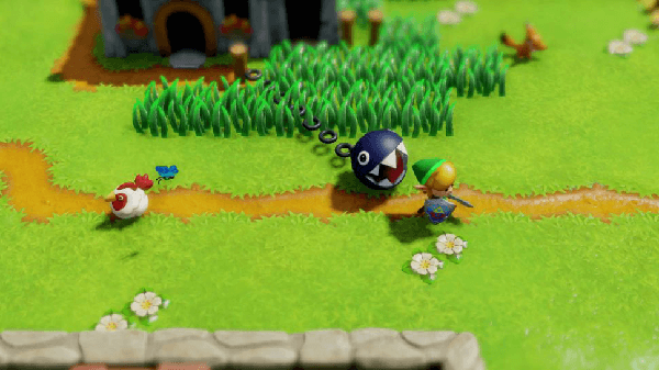 Link's Awakening boasts a charming new art style.