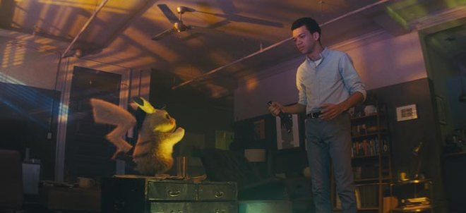 Tim first discovers Pikachu in his dad's apartment