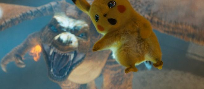 Pikachu is losing the battle with the Charizard