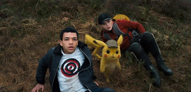 Lucy, Tim and Pikachu see giant Mewtwo