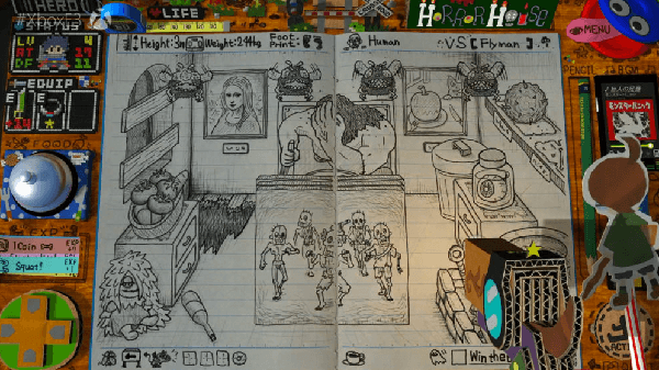 RPG Time: The Legend of Wright crams a ton of gameplay onto a couple of classroom desks.
