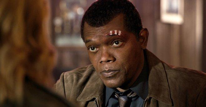 Samuel L. Jackson as young Nick Fury