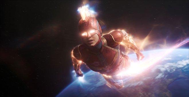 Captain Marvel under full power