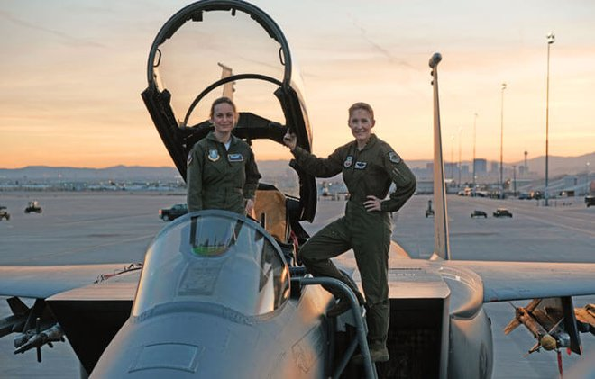 Brie with real-life fighter pilot
