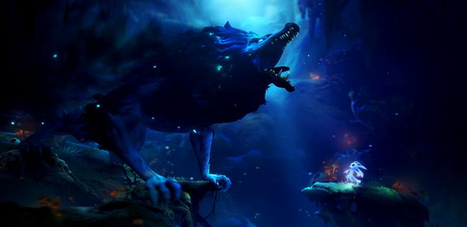 Massive creatures roam the world Ori explores