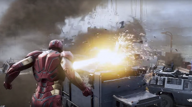 Brief gameplay snippet of Iron Man in action