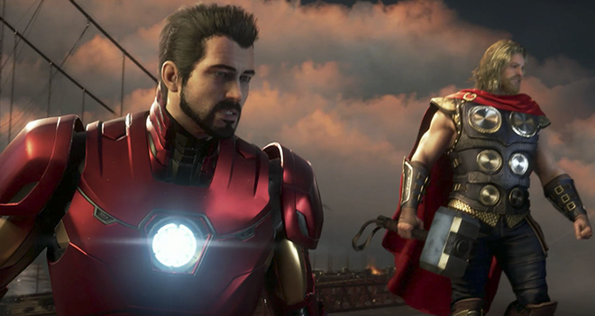 Iron Man and Thor from the new game