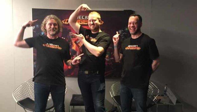 Goofing around with the Minecraft: Dungeons development team