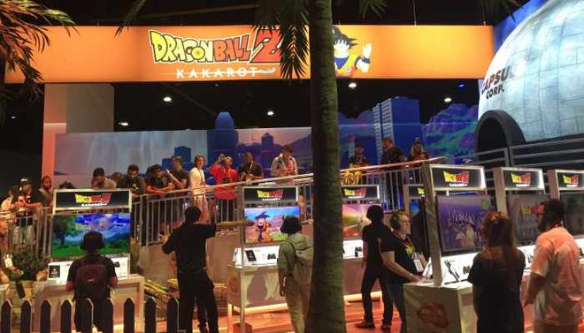 The Dragon Ball Z booth was a big draw for gamers hoping for a first look at the game