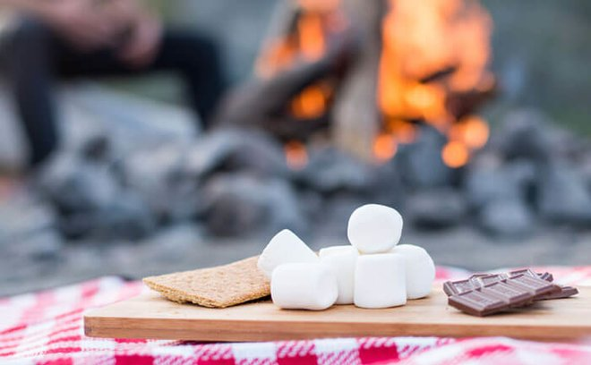 Have s'mores, or make campfire trail mix.