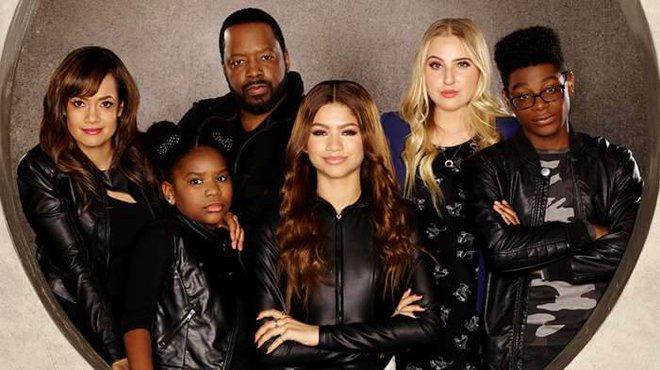 Zendaya with the K.C. Undercover Cast