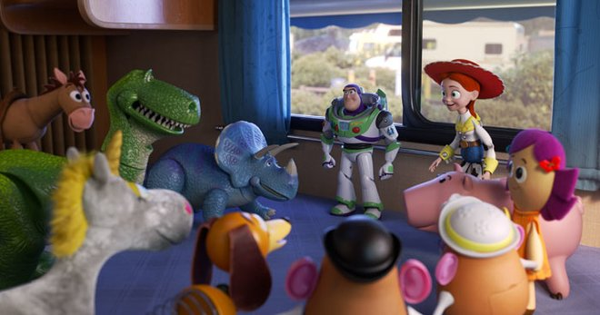 In the RV, Bonnie's toys want to find Woody