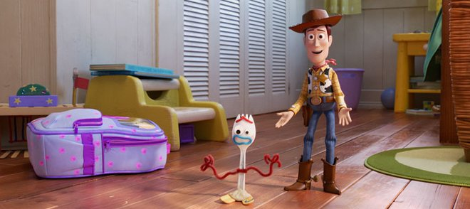 Woody tells Forky he's a toy not trash