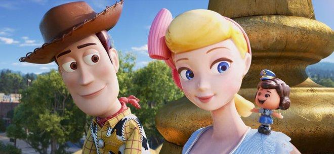 Woody meets Bo Peep's tiny pal Giggles