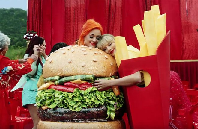 Even burgers and fries can set aside their differences.