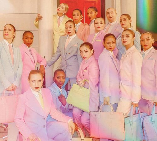 aylor and dancers showing off every color of the rainbow.