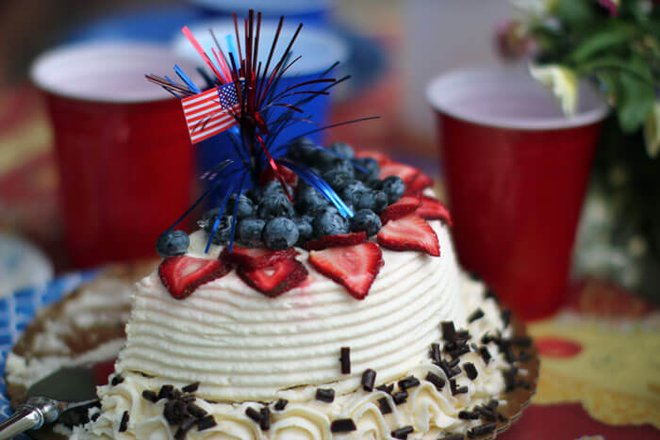 Celebrate with red, white and blue.