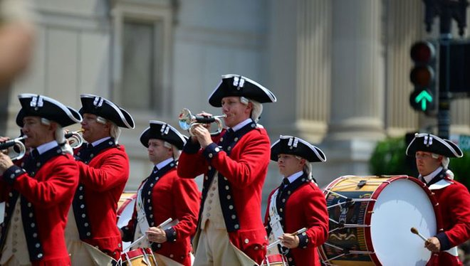 Celebrate the holiday by attending a patriotic parade.