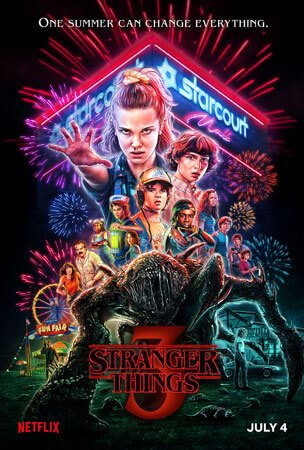 Stranger Things 3 airs on Netflix July 4th