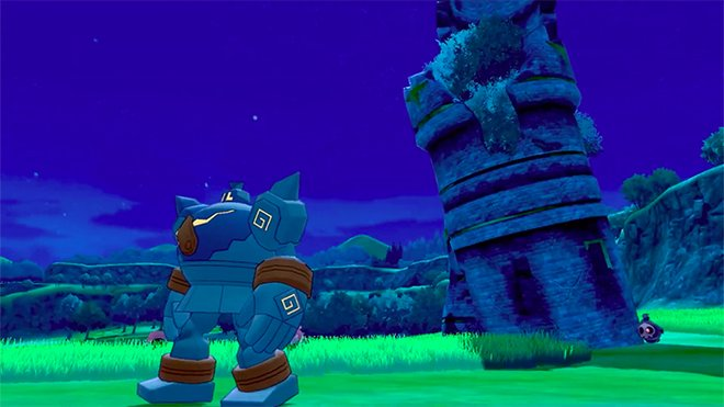 The world changes at night, and the Pokémon roaming do as well