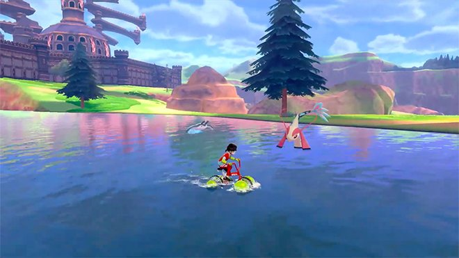 Lots of ways to traverse the open world, including a water bike!