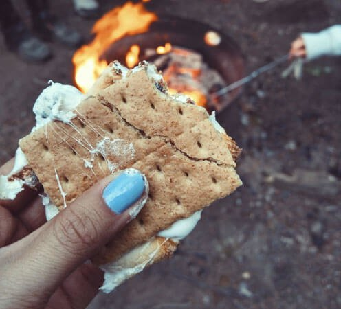 Mmmm... nothing better than a gooey s'more!