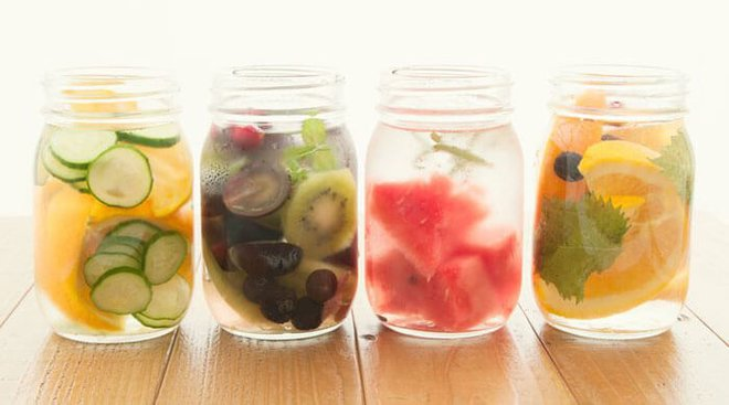 Add fruit to water to make it more flavorful