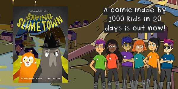 Saving Slimetown complete comic book